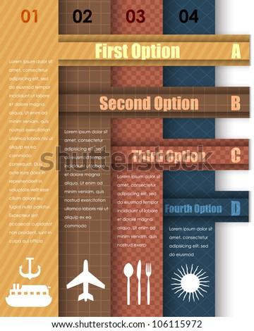 Numbered Information Banner Vector Design