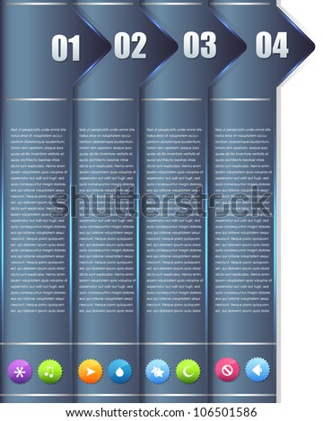 Numbered Information Banner Vector Design