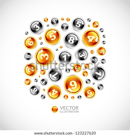 Numbers. Abstract vector illustration.