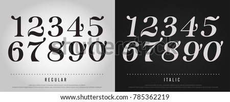 numbers alphabet letters set