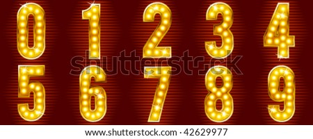 numbers for signs with lamps