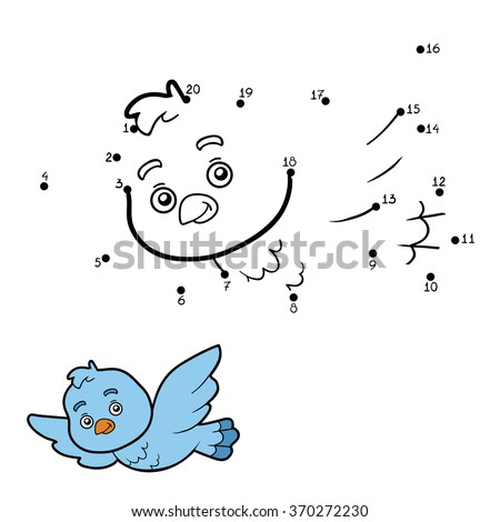 Numbers game, education game for children (bird)