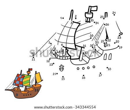 numbers game for children  ship