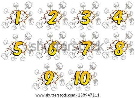 numbers one to ten with
