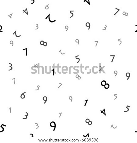 Numbers (seamless vector)
