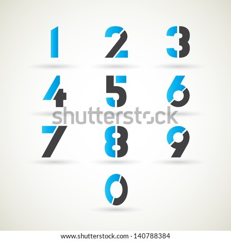 numbers set, vector.