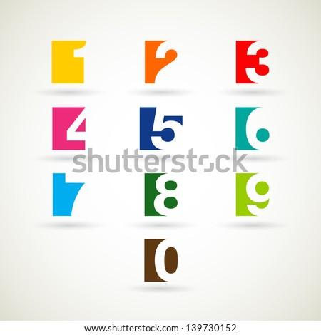 numbers set vector