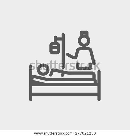 nurse attending a sick patient