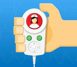 Nurse Call Button in Hospital Clinical Healthcare Medical Electronic Communication Equipment with Nurse or Staff When Needed Help monitoring