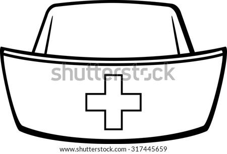 Nurse cap coloring pages ~ Nurse Cap Stock Vector Illustration 317445659 : Shutterstock