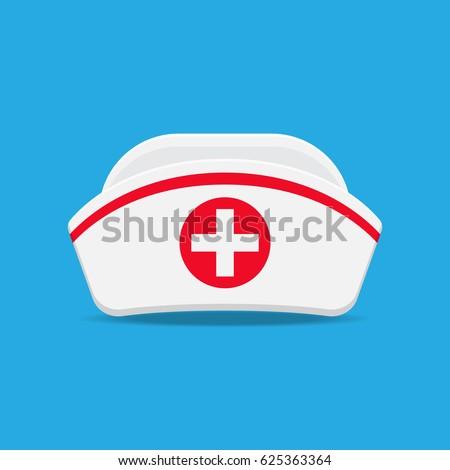 nurse cap vector flat design.