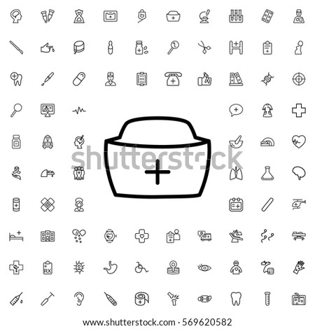nurse hat icon illustration isolated vector sign symbol