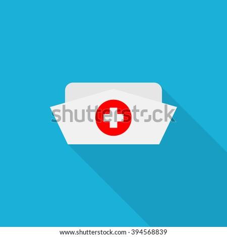 Nurse hat icon - Vector