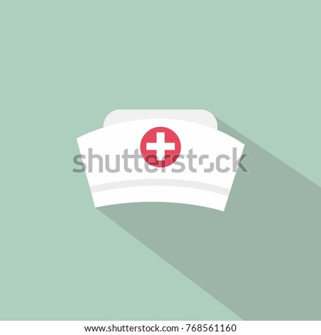 Nurse hat icon. vector