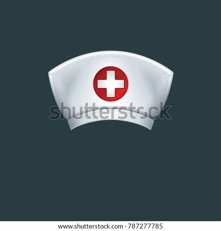 Nurse hat - isolated vector illustration
