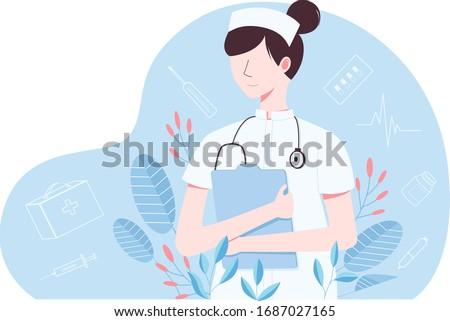 nurse holding a case medicine