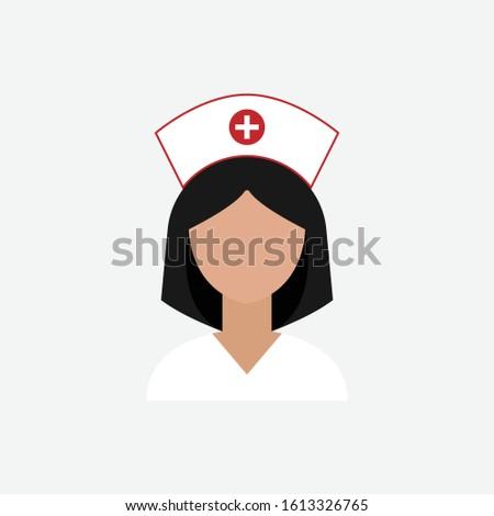 Nurse vector icon . Nurse logo.
