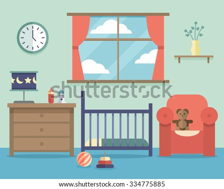 nursery baby room interior with