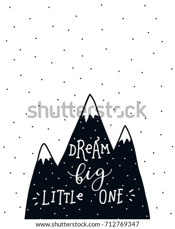 nursery poster with mountains