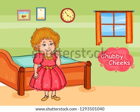 Nursery Rhymes  Chubby Cheeks for kids learning school education. Vector illustration Foto stock ©