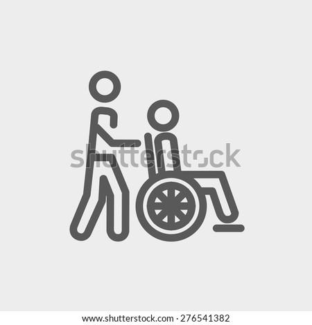 nursing take icon thin line for