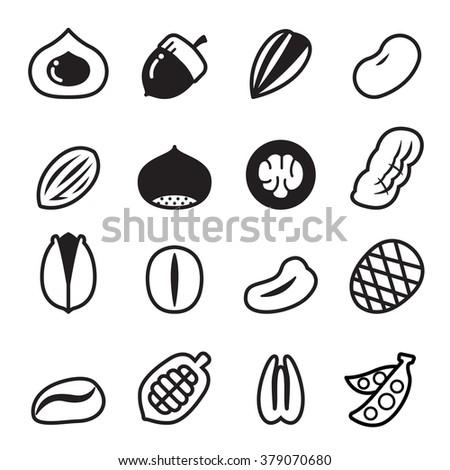 nut icons vector illustration