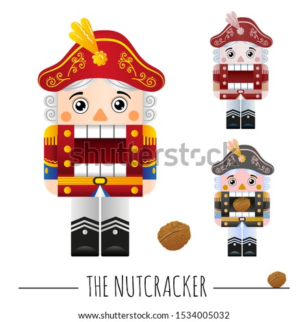 nutcracker on a white