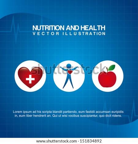 nutrition design over blue background vector illustration