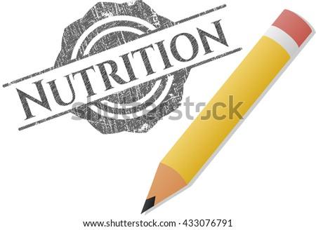 Nutrition draw (pencil strokes)