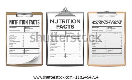 Milk Nutrition Facts Illustration Download Free Vector Art Stock