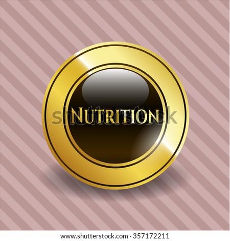 Nutrition gold shiny emblem