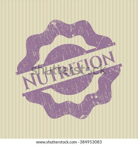 Nutrition grunge seal