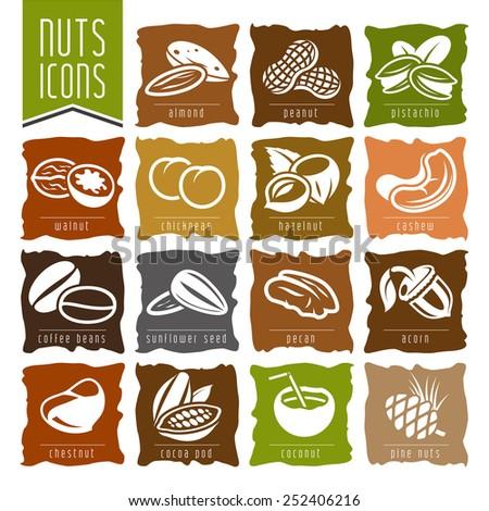 nuts icon set   2