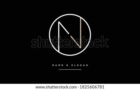 NV ,VN ,N ,V  abstract Letters Logo Monogram Imagine de stoc ©