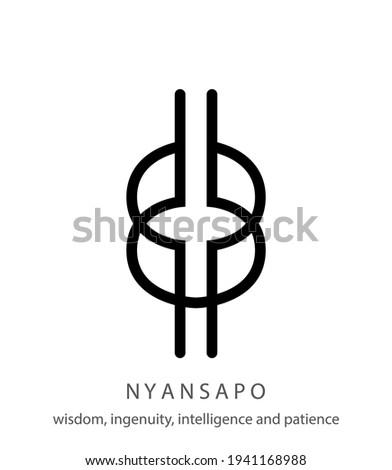 Nyansapo african adinkra symbol, symbol of wisdom, knowledge and prudence Photo stock ©
