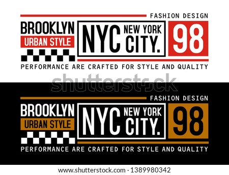 NYC Brooklyn 98, design vector typography varsity for print t shirt - Vector image