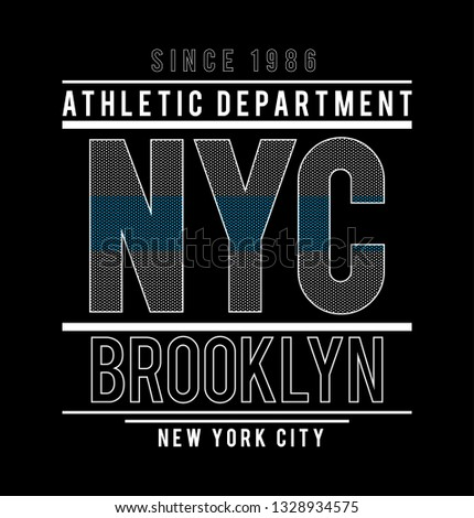 NYC New York Brooklyn Dot style background diffirent technic Sport Slogan. Typography Slogan College With Badge, Pin, Patch Soldier T-shirt and apparels print graphic vector Varsity typography