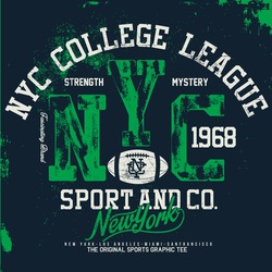 nyc sports tee graphics