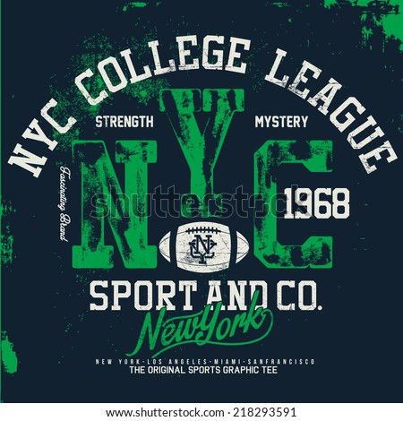 nyc sports tee graphics