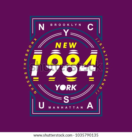 nyc 1984 typography for tee