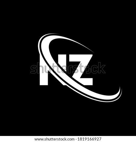 NZ logo. N Z design. White NZ letter. NZ/N Z letter logo design. Initial letter NZ linked circle uppercase monogram logo. Stock fotó ©