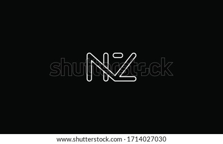 NZ or ZN letter logo. Unique attractive creative modern initial NZ ZN N Z initial based letter icon logo Stock fotó ©