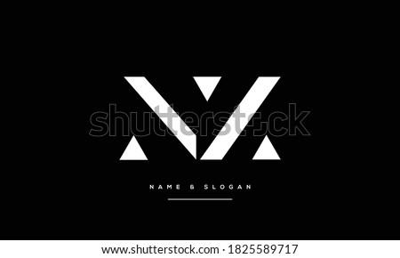 NZ ,ZN ,N,Z abstract Letters Logo Monogram Stock fotó ©