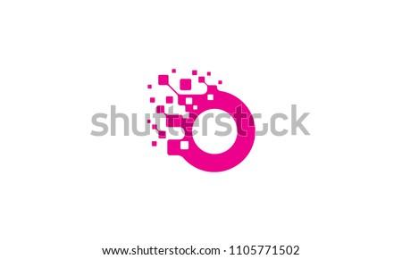 O initial digital logo Foto stock ©