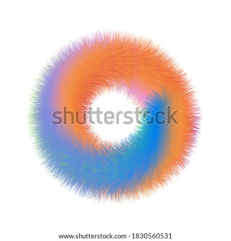 O initial logo with colorful hairy effect, vector EPS10 Photo stock ©