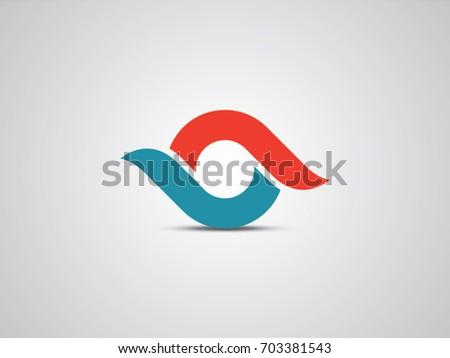 o letter eye vector icon