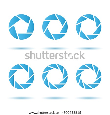 O letter segment signs, logo template, aperture concept, 3d vector on white background, eps 8