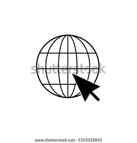 o to web Icon. Web icon vector. Web icon page symbol for your web design. Internet world on a white background, vector