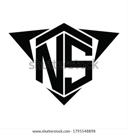 OA Logo monogram with wings arrow around design template on white background Stock fotó ©