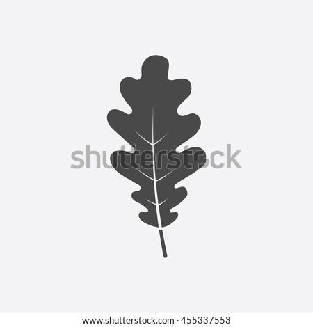 Oak Leaf vector illustration icon in black simple design